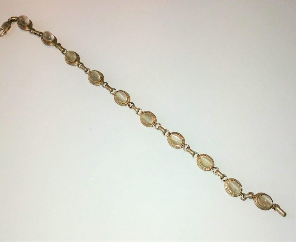 bracciale Tibet argento pietra di luna pineale terzo occhio pietra burattata cristalloterapia corso on line reiki