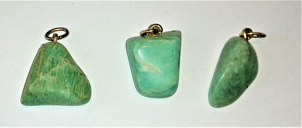 amazzonite pietra burattato ciondolo collana cristalloterapia reiki corso on line fegato purificazione spasmi muscolari
