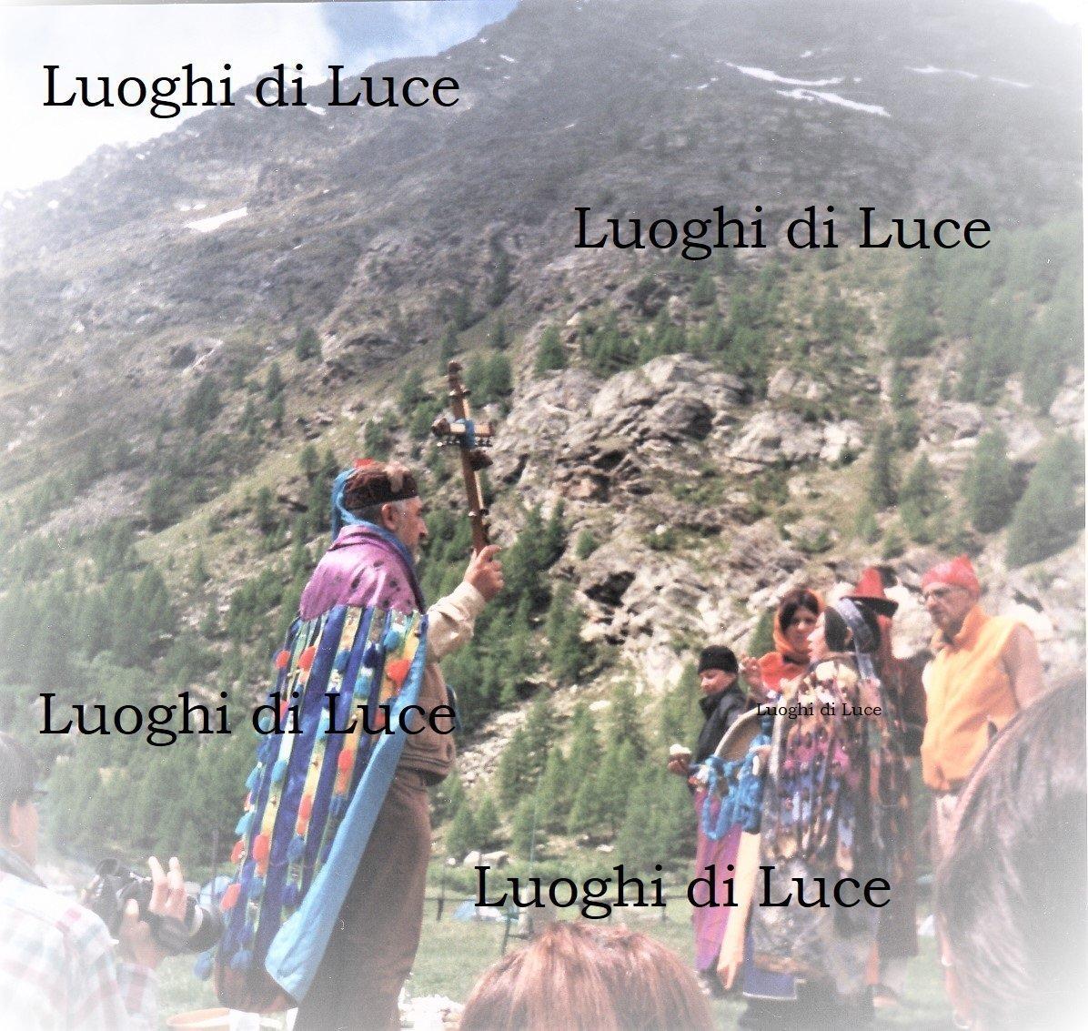 incontro e cerimonia sciamanica in Valle d'Aosta