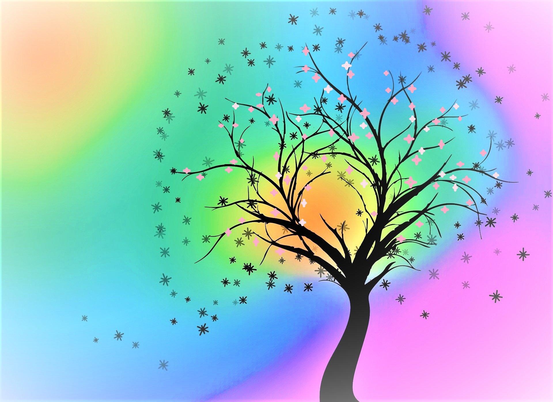 tree-4616495_1920 colore (3) con fiori
