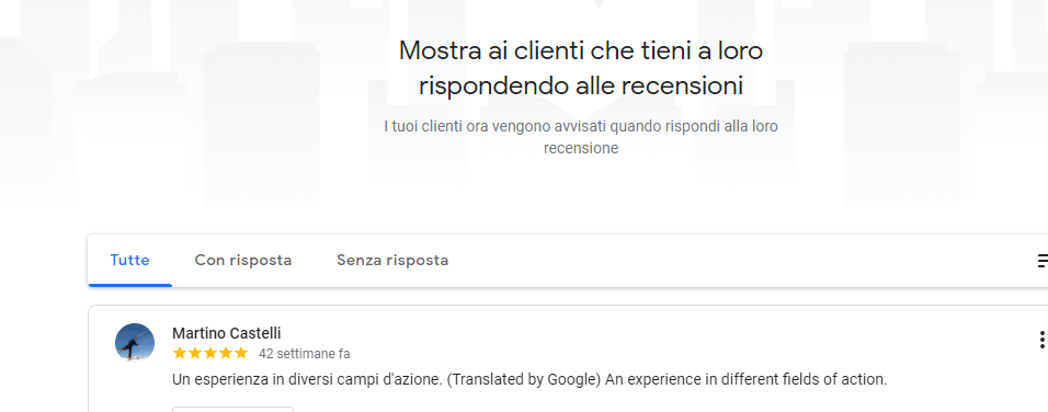 feedback Martino Castelli