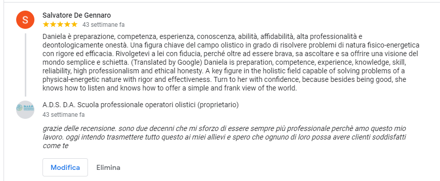 feedback salvatore de Gennaro